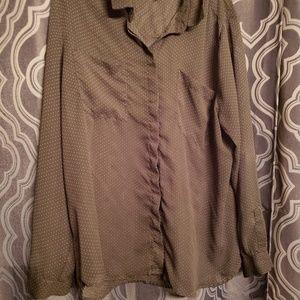 Old navy sheer polka dot blouse XXL